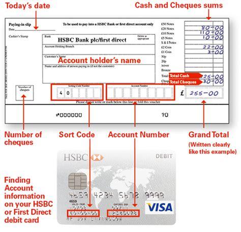 hsbc bank accounts uk hsbc customer support paying in slip hsbc bank uk