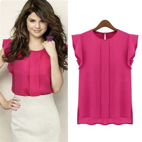 Sale Summer Denim Blouse womens blouses chiffon clothing summer blouse shirt sale new fashion ruffle sleeve 3