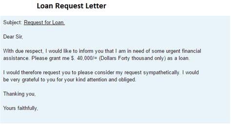 Sle Letter Request Auto Loan Loan Request Letter Writing Professional Letters