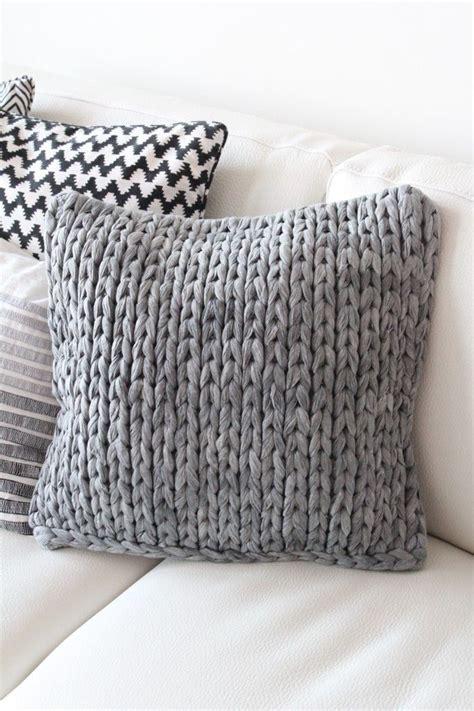 knit pillows knitting needles tshirt yarn project ideas