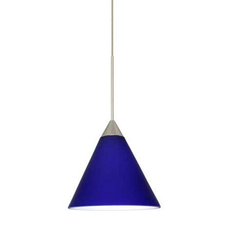 blue mini pendant lights kani cobalt blue matte satin nickel mini pendant besa