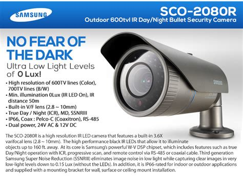 Cctv Samsung Sco 2080r samsung sco 2080r outdoor 600tvl ir security day