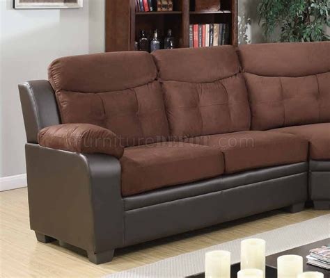 Chocolate Sectional Sofa 3025 Sectional Sofa In Chocolate Cappuccino