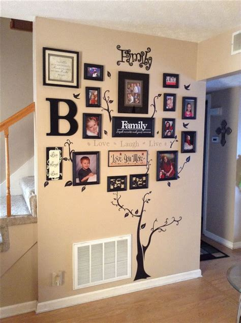 decorating with family pictures my quot family quot tree wall decor decor pinterest tree on