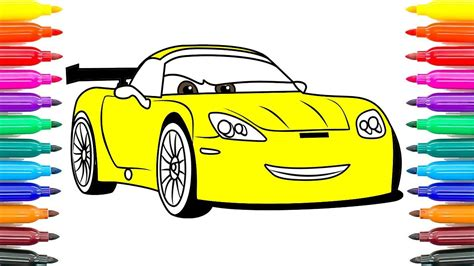 cars 2 coloring pages jeff gorvette how to coloring cars 3 jeff gorvette coloring pages how to