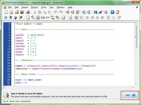 python parser pattern matching tutoriales de compiladores implementaci 243 n de gold parser