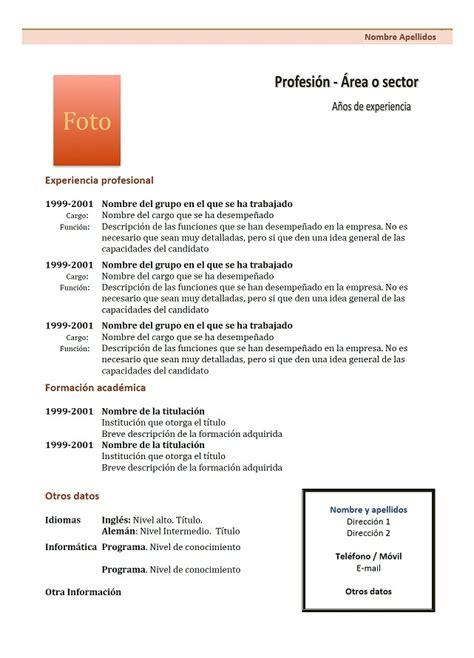 Modèle De Lettre Administrative En Espagnol Exle Resume Modele De Cv En Francais A Remplir