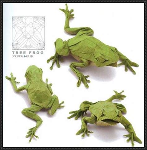 Origami Tree Frog - new paper craft japanese tree frog origami tutorial free