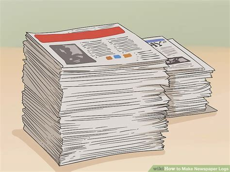 3 ways to make newspaper logs wikihow