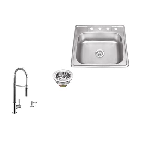 4 hole kitchen faucet with soap dispenser sinks and ipt sink company drop in 25 in 4 hole stainless steel