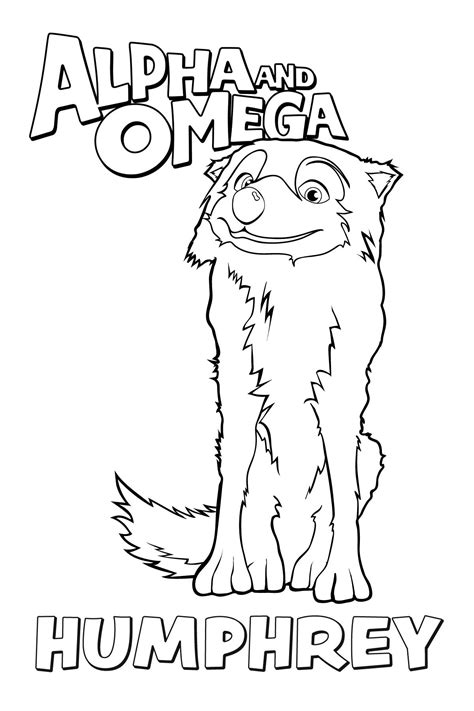 humphrey coloring page alpha and omega photo 37196788