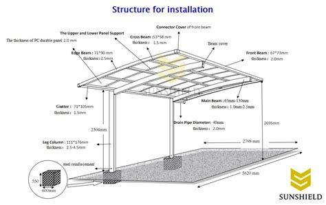 DIY Metal Carport  Build Polycarbonate Parking Shade