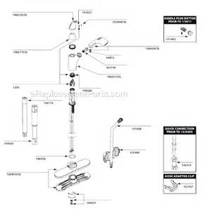 Moen Kitchen Faucet With Water Filter moen 7560csl parts list and diagram after 1 11