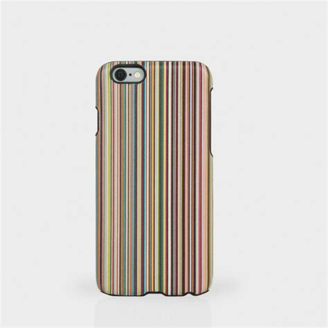 paul smith paul smith s signature stripe leather iphone 6 in