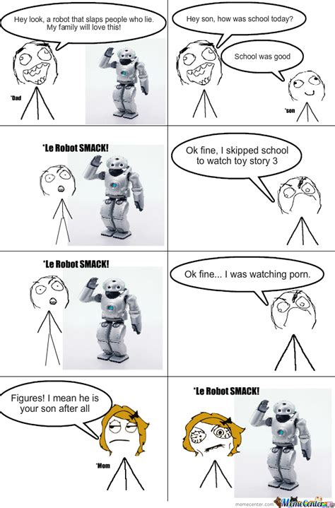 Robot Meme - lie detecting robot by megamo meme center