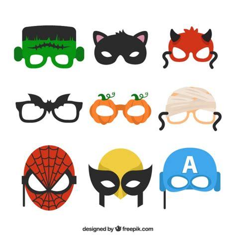 imagenes halloween mascaras variedad de m 225 scaras de halloween descargar vectores gratis