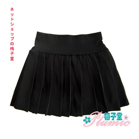 school elastic waist school black pleated