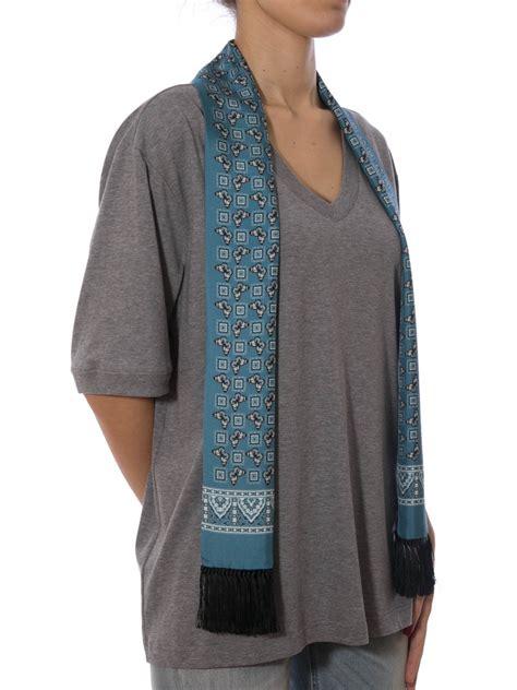 scarf detailed t shirt by dolce gabbana t shirts ikrix