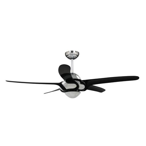 Vento Ceiling Fans by Vento Uragano 54 In Indoor Chrome Ceiling Fan With 5 Black Blades K 00034 The Home Depot