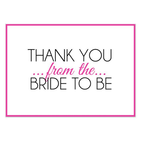 Bridal Shower Thank You Pink Invitations Cards On Pingg Com Wedding Shower Thank You Note Template