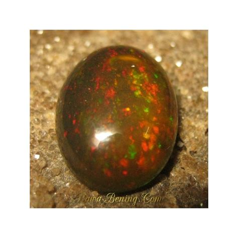 2 26 Cts Black Opal Jarong batu mulia black opal oval cabochon jarong rintik