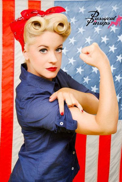 pin up american hair rosie the riveter charity calendar pin ups pinterest