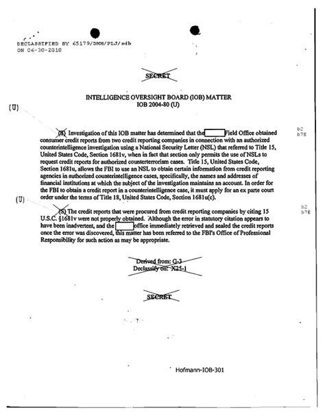 Credit Investigator Application Letter Patterns Of Misconduct Fbi Intelligence Violations From 2001 2008 Electronic Frontier