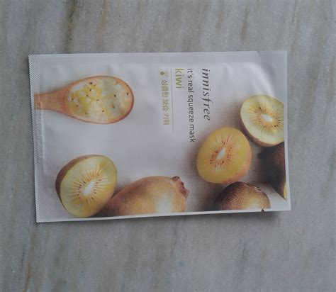 Images Kiwi Sheet Mask trying out korean skincare products iii innisfree it s real squeeze mask kiwi review