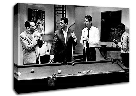 Jack Daniels Wall Stickers the rat pack playing pool people canvas stretched canvas