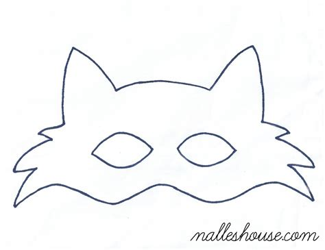 fox template fox mask template sewing projects mask