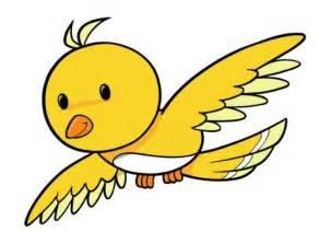 cute flying birds cartoon