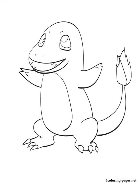 printable coloring page pokemon charmander coloring pages