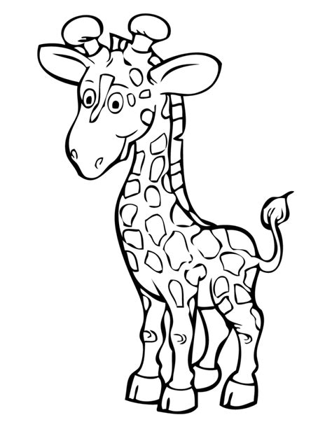 coloring pages of cartoon giraffes coloring pages giraffe coloring pages getcoloringpages