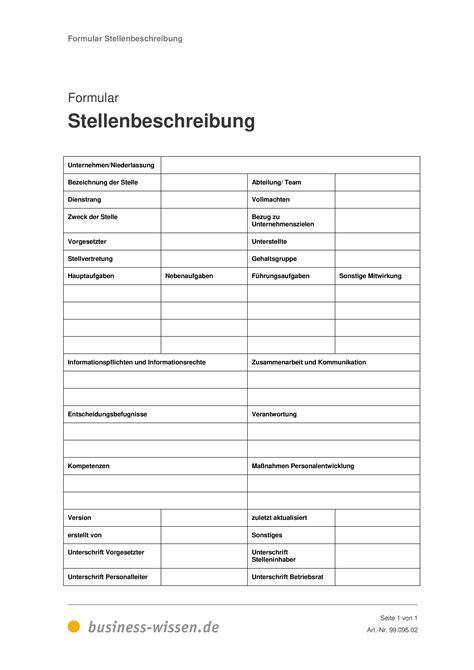 Stellenbeschreibung – Management-Handbuch – business-wissen.de