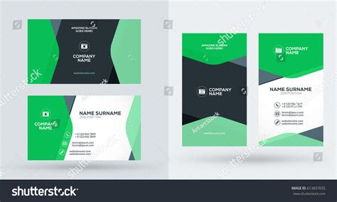 portrait business card template doublesided creative business card template portrait stock