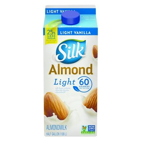 silk light almond milk nutrition facts silk almond milk vanilla light 64oz target