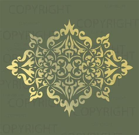Large Wall Damask Stencil Pattern Faux Mural 1023 Ebay Wall Mural Templates