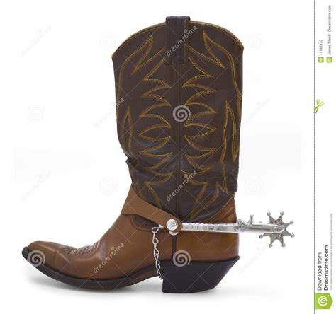 boot spurs boot and spur stock photo image of western leather