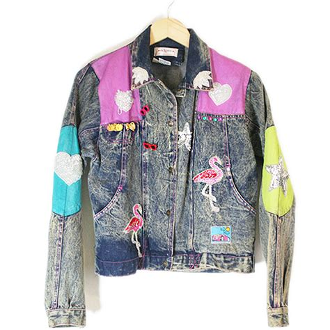 diy denim jacket from blingy flamingo dallas pink cadillac tacky diy denim
