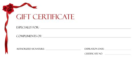 templates for gift certificates free gift certificate templates to print activity shelter
