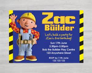 items similar to bob the builder birthday invitation customise personalise