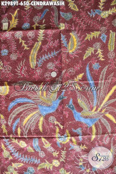 batik kain halus warna merah motif cendrawasih adem proses