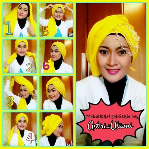 tutorial hijab paris pesta tutorial hijab pesta simple just trendy girls