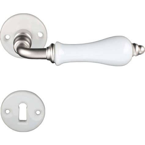 Interior Door Handles Door Handle Interior Porcelain And Matte Nickel Porcelain Door Handles Villahus Co Uk