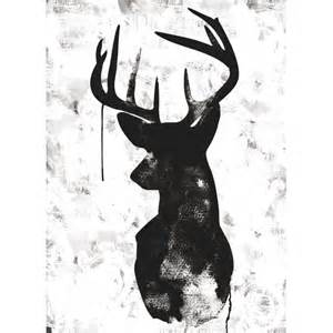 Decorative Floor Mats Home oh deer white black canvas print various sizes the