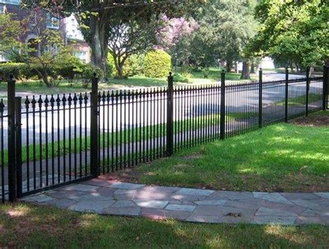 Cost Of Backyard Fence by Best 25 Wrought Iron Fence Cost Ideas On