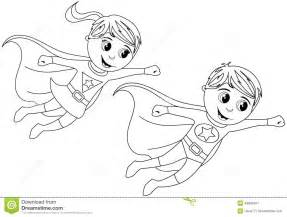 heroes coloring pages happy kid flying isolated coloring page