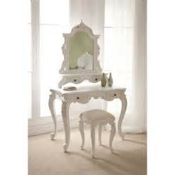 furniture bedroom mirrored white painted wooden dressing