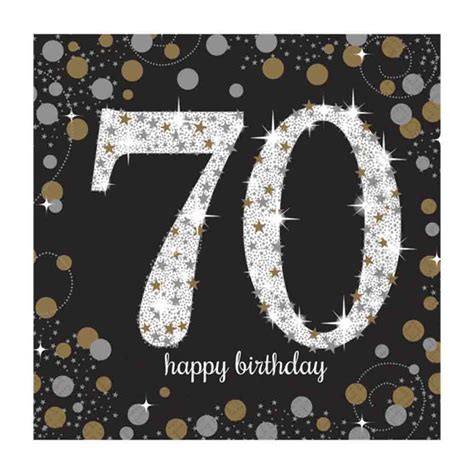 schrank 70 x 70 16 x black age 70 napkins black gold silver 70th birthday