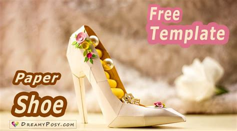 How To Make A Paper Shoe Step By Step - dreamyposy free templates for diy gifts and diy room
